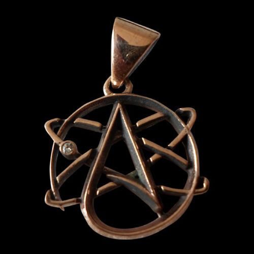 Science and Atheism Copper Pendant - Clearance - Big Joes Biker Rings