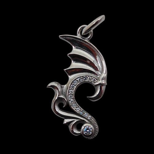 Dragon Wing Pendant - Clearance - Big Joes Biker Rings