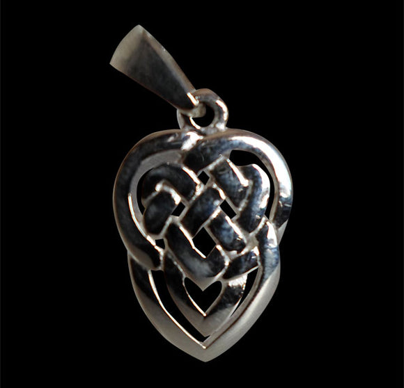 Celtic Heart Sterling Silver Pendant - Pendant - Big Joes Biker Rings