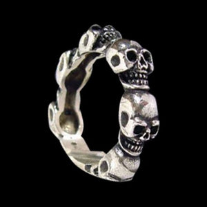 All Skull Band - Ring - Big Joes Biker Rings