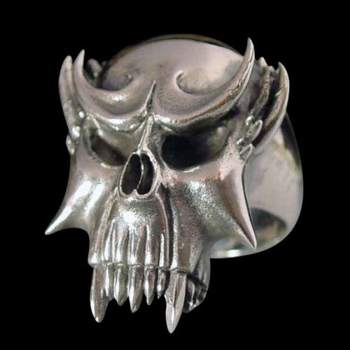 Vampire Skull Ring - Ring - Big Joes Biker Rings