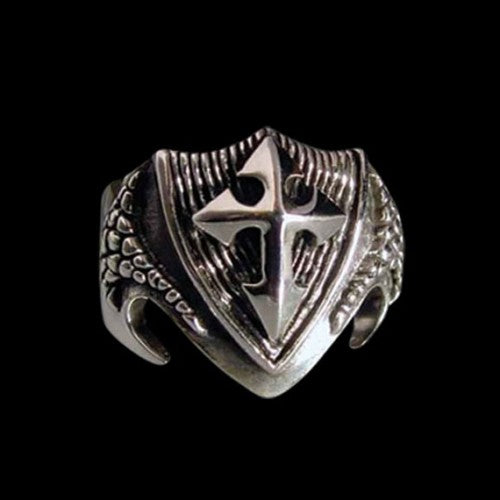 Dragon Shield Ring - Ring - Big Joes Biker Rings