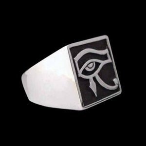 Egyptian Udjat Eye of Horus Ring - Ring - Big Joes Biker Rings