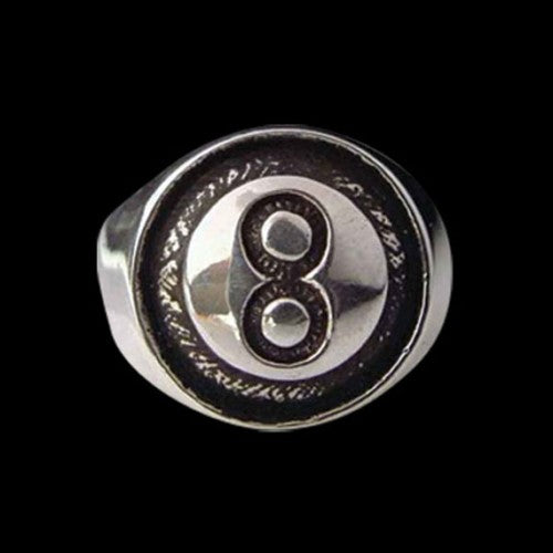 8-Ball Ring - Ring - Big Joes Biker Rings