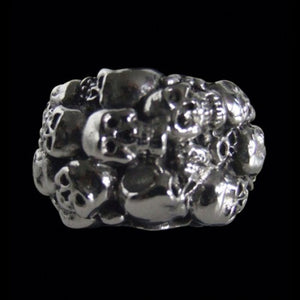 Skull Cluster Ring - Ring - Big Joes Biker Rings