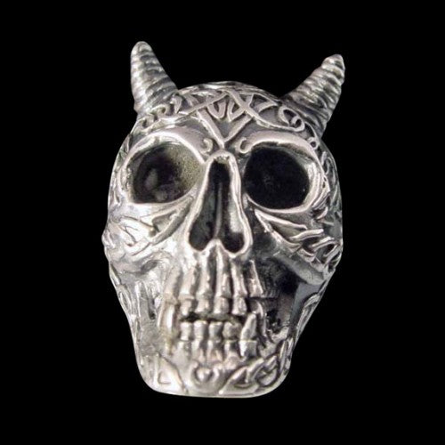 Horned Celtic Skull Ring - Ring - Big Joes Biker Rings