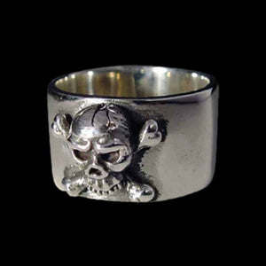 Old Pirate Skull Band - Ring - Big Joes Biker Rings