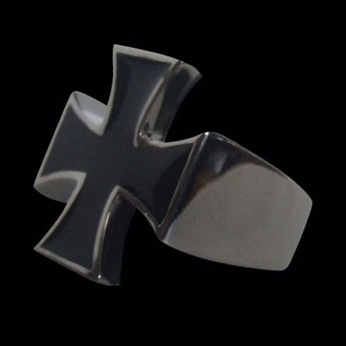 Iron Cross Enamel Ring - Ring - Big Joes Biker Rings