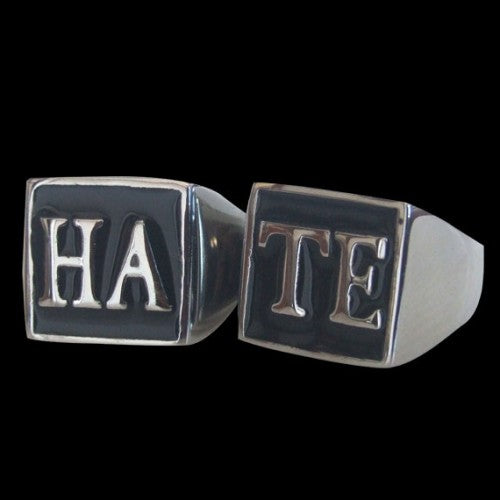 HATE Ring Set - Ring - Big Joes Biker Rings