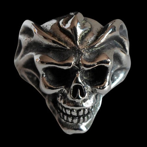 Del Fuego Skull Ring - Ring - Big Joes Biker Rings