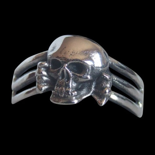 Death Head 3 Band Skull Ring - Ring - Big Joes Biker Rings