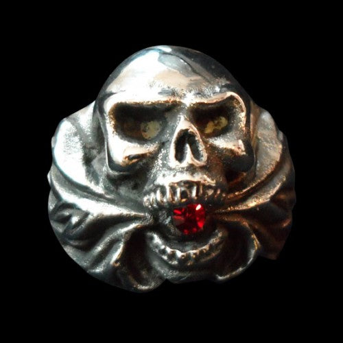 Hell Fire Skull Ring - Ring - Big Joes Biker Rings