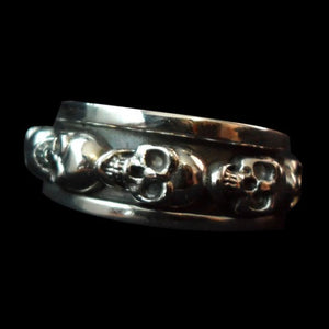 Spinning Skull Ring - Ring - Big Joes Biker Rings