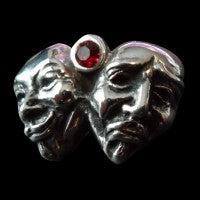 Comedy and Tragedy Guy Fawkes Mask Ring - Ring - Big Joes Biker Rings