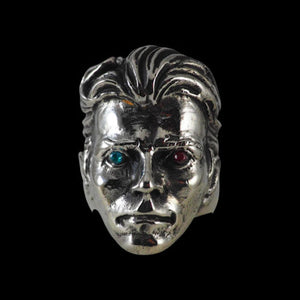 David Bowie Tribute Ring with Crystal Eyes - Ring - Big Joes Biker Rings