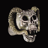 Aries Ram Skull Ring - Ring - Big Joes Biker Rings