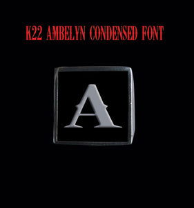 Square K22 Ambelyn Font 1-Letter Sterling Silver Rings - Ring - Big Joes Biker Rings