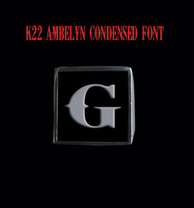 Square 19mm K22 Ambelyn Font Letter G Stainless Steel Ring - Clearance - Big Joes Biker Rings