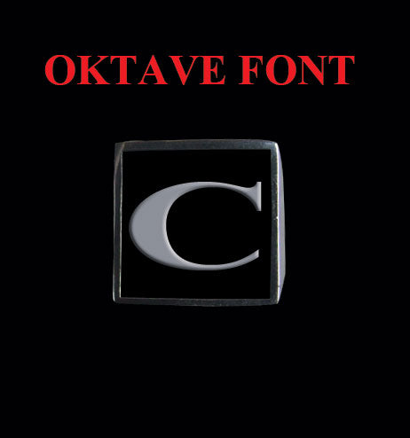 Square Oktave Font 1-Letter Sterling Silver Rings - Ring - Big Joes Biker Rings