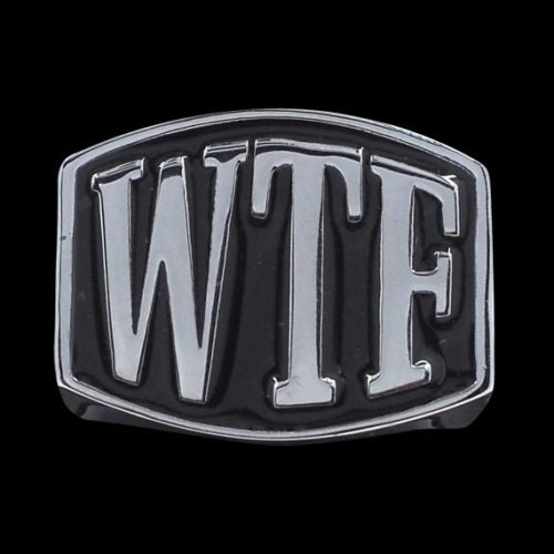WTF 3-Letter Ring - Ring - Big Joes Biker Rings