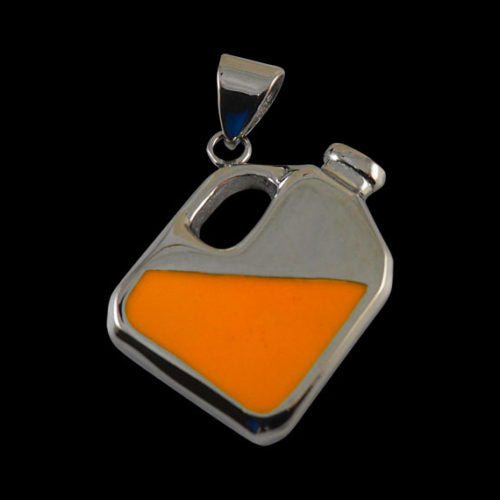 Enamel Piss Jug Pendant (with Engraving) - Pendant - Big Joes Biker Rings