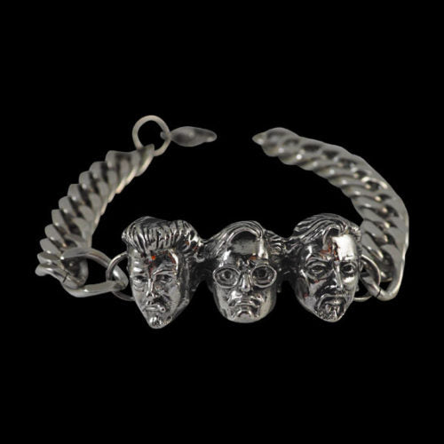 Trailer Park Boys 3 Head Stainless Steel Bracelet - Bracelet - Big Joes Biker Rings