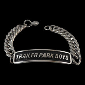 Trailer Park Boys Logo Stainless Steel Bracelet - Bracelet - Big Joes Biker Rings