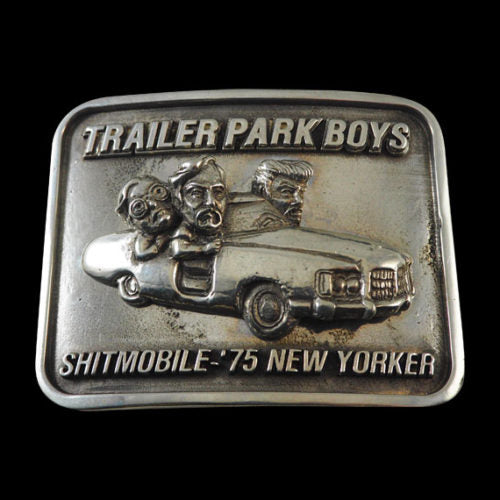 Shitmobile Trailer Park Boys Pewter Belt Buckle - Belt Buckle - Big Joes Biker Rings