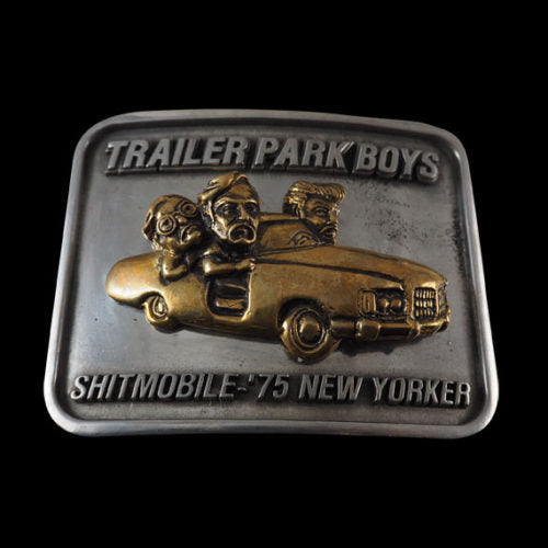 Sh*tmobile Trailer Park Boys Bi Metallic Belt Buckle - Belt Buckle - Big Joes Biker Rings