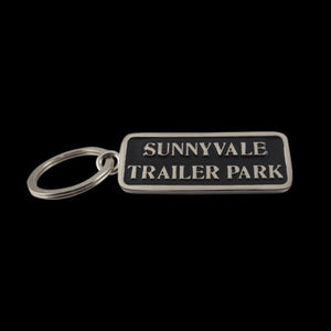 Sunnyvale Nickel Plate on Brass Enameled Keychain - Key Chain - Big Joes Biker Rings