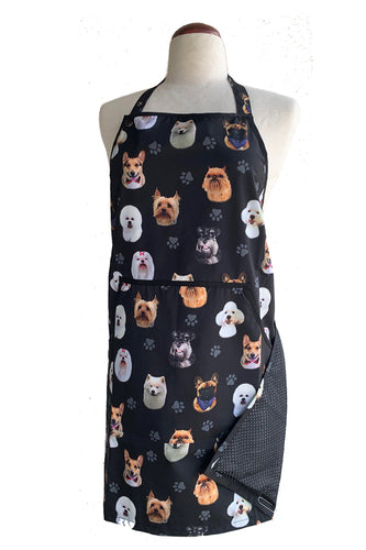 Ladybird Dog Breeds Print Waterproof Dog Bather's Apron