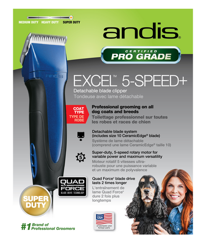 Andis Excel 5-Speed+ Detachable Blade Clipper Blue