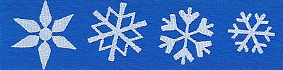 White Snowflakes on Royal Ribbon