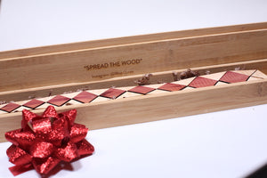 Custom Engraved Bamboo Box w/Magnetic lid