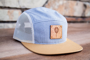 Wood Leon 5-Panel Wood patch Hat -Light