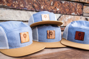 Light 5-Panel Trucker Hat with WL Wood Patch