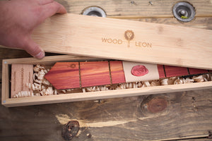 Wood Leon Bamboo Box w/Magnetic lid