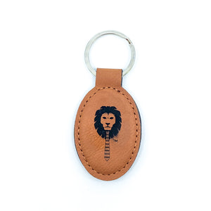 WL Leather Oval Key Chains