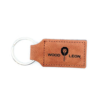 WL Leather Rectangle Key Chains