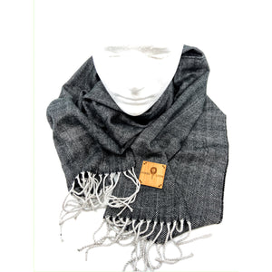 Wood Patched Cashmere-feel Scarves