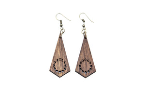 Wooden Earrings: Moon Cycle