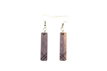 Wooden Earrings: A Symmetry
