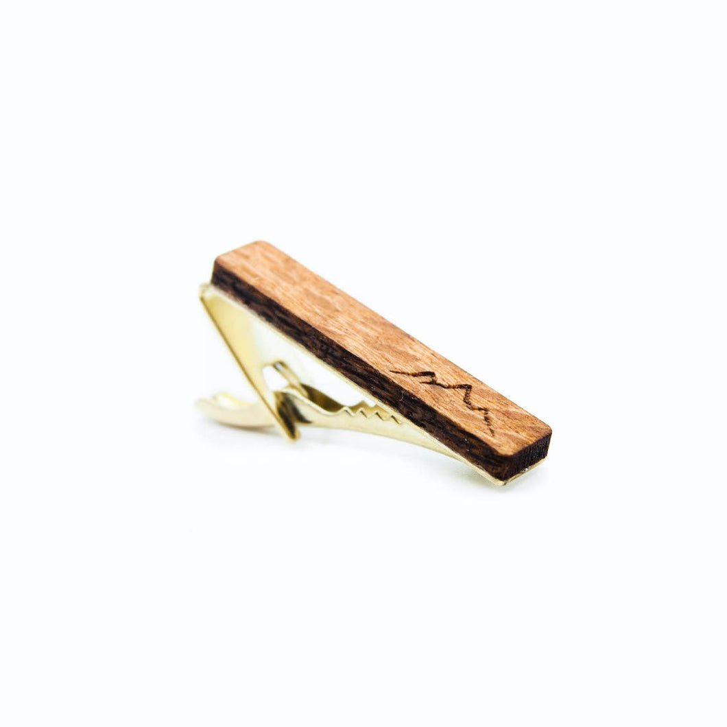 Wood Tie Clip- Mountain