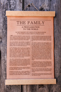 Wood Framed LEATHER Proclamations LDS Restoration, Family, Living Christ