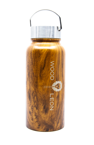 Vacuum bottle: Wood + Stainless steel 30oz