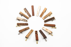 Wood Tie Clip- Adventurer