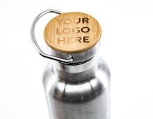 Vacuum bottle with bamboo lid - 20oz