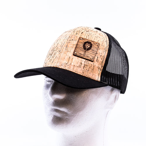 Cork Cap- Wood patched hat
