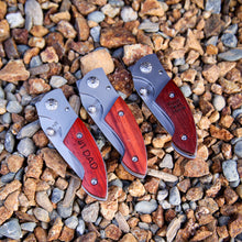 PERSONALIZED Pocket Knife w/Rosewood Grip