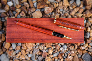 PERSONALIZED Rollerball Pen ft. Rosewood and Maple